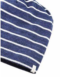 Esprit - Blue Jersey Beanie - Lyst