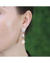 Lucifer Vir Honestus - Metallic Freshwater Pearl Drop Earrings - Lyst