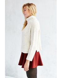 Silence + Noise - White Abigail Turtleneck Sweater - Lyst