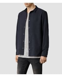 AllSaints | Black Billiard Shirt for Men | Lyst