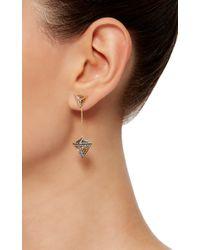Noor Fares | Metallic Geometry 101 Octahedron Drop Earrings | Lyst