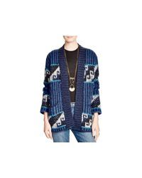 Free People | Blue Time And Again Geometric Pattern Cardigan | Lyst
