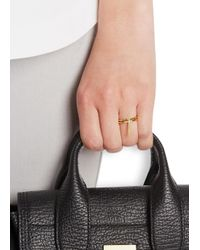Maria Black | Metallic Creed Bar Gold-plated Ring | Lyst