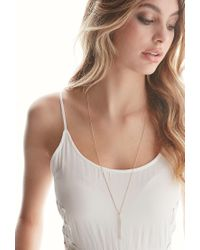 Forever 21 | Metallic By Boe Linear Drop Necklace | Lyst