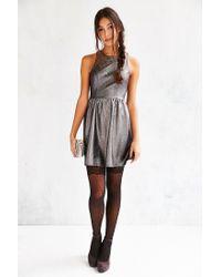 Kimchi Blue - Metallic Shimmer Fit + Flare Dress - Lyst