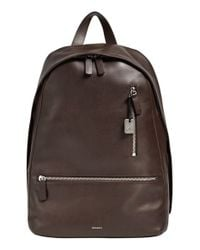 Skagen | Brown 'kroyer 2.0' Leather Backpack for Men | Lyst