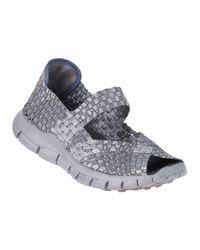 Bernie Mev | Metallic Comfi Sandal Silver Grey Fabric | Lyst