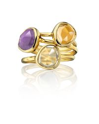 Monica Vinader - Metallic Siren Stacking Ring - Lyst