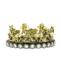Armenta | Metallic Half Crown Ring | Lyst
