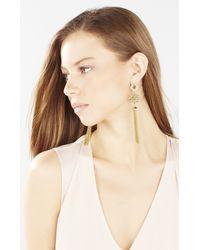 BCBGMAXAZRIA - Metallic Stone Tassel Earrings - Lyst