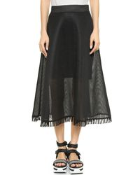 DKNY - Black Embellished Jersey Skirt - Lyst