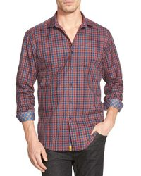 Robert Graham | Red 'trotter' Classic Fit Woven Sport Shirt for Men | Lyst
