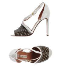 L'Autre Chose - White Sandals - Lyst