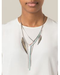 Iosselliani - Metallic Beaded Fringe Necklace - Lyst