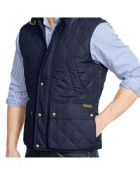 Polo Ralph Lauren - Blue Diamond-quilted Vest for Men - Lyst
