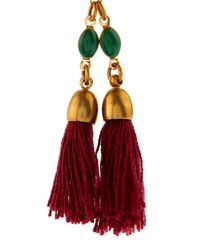 Isabel Marant - Red Mild Tassel Drop Earrings - Lyst