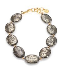 Nest | Metallic Pyrite Statement Strand Necklace | Lyst