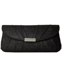 Jessica Mcclintock | Black Metallic Lurex Shoulder Bag | Lyst