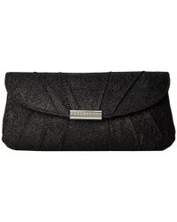 Jessica Mcclintock - Black Metallic Lurex Shoulder Bag - Lyst