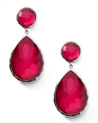 Ippolita | Red Raspberry Teardrop Post Earrings | Lyst