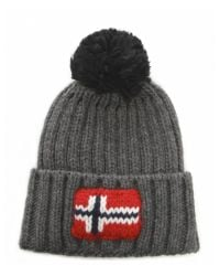 Napapijri - Gray Semiury Bobble Hat for Men - Lyst