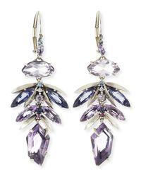 Alexis Bittar Fine | Metallic Amethyst Leaf Cluster Drop Earrings | Lyst