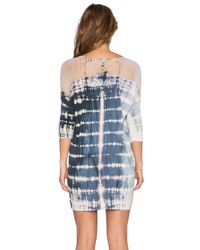 Gypsy 05 - Blue Bamboo 3/4 Sleeve Dolman Mini Dress - Lyst