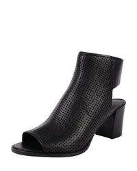 Kenneth Cole | Black Charlo Perforated Open Toe Booties | Lyst