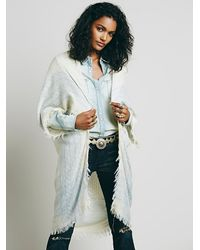 Free People | White Womens Boxy Mockneck Pullover | Lyst