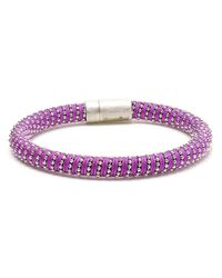 Carolina Bucci | Purple 18kt Gold-plated Sterling Silver Twisted Bracelet | Lyst