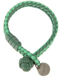Bottega Veneta - Green Tonal Intrecciato Bracelet - Lyst
