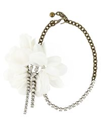 Lanvin - Multicolor Flower Pendant Necklace - Lyst