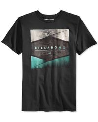 Billabong | Black Washer Graphic T-shirt for Men | Lyst