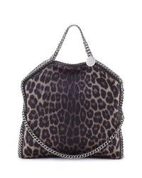 Stella McCartney - Brown Falabella Small Leopard-Print Tote Bag - Lyst
