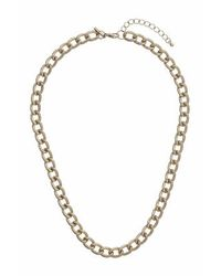 TOPSHOP - Metallic Textured Curb Chain Necklace - Lyst