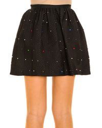 Marco De Vincenzo - Natural Appliqué Skirt - Lyst