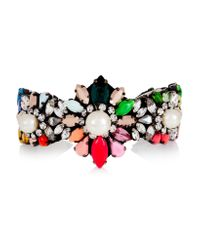 Shourouk - Purple Rainbow Pearl Silver-plated, Swarovski Crystal And Faux Pearl Cuff - Lyst