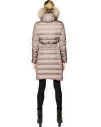 Moncler - Natural Fabrefox Nylon & Micro Lux Down Coat - Lyst