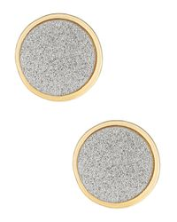 ABS By Allen Schwartz - Metallic Glitter Stud Earrings - Lyst