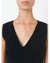 Vivienne Westwood Anglomania - Pink Rose Orbit Necklace - Lyst