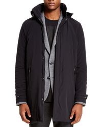 DKNY - Black Sport Raincoat - Lyst