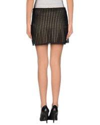 Just Cavalli - Natural Mini Skirt - Lyst