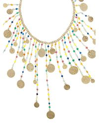 Rosantica By Michela Panero - Metallic Appeso Coin And Agate Necklace - Lyst