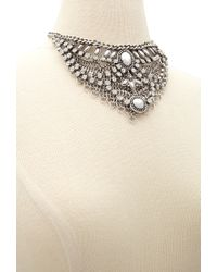 Forever 21 | Metallic Layered Statement Necklace | Lyst