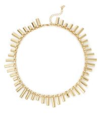 ABS By Allen Schwartz | Metallic Pave Station Chain Necklace | Lyst