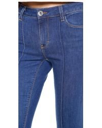 Alice + Olivia - Alice + Olivia High Waisted Boot Cut Jeans - French Blue - Lyst