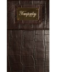 Temperley London - Brown Glossy Crocodile Leather Ipad Case - Lyst