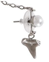 DANNIJO - Metallic Silver-Plated Pearl Bitsy Ear Cuff - Lyst