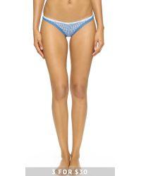Calvin Klein | Blue Bottoms Up Thong - Steel Grey | Lyst