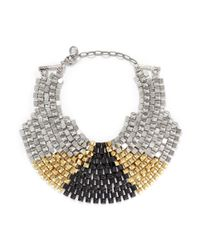 Ela Stone - Metallic Freja Pyramid Chain Plastron Necklace - Lyst